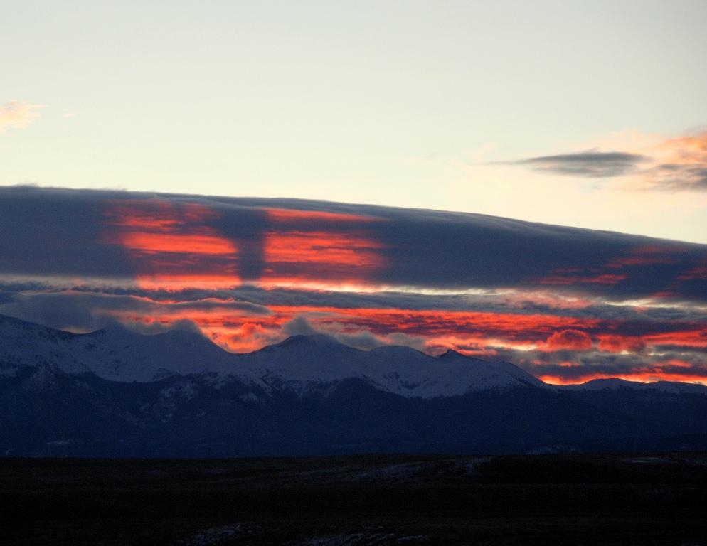 Sunrise over Medicine Bow Mts. | Walden, Colorado | October, 2011
